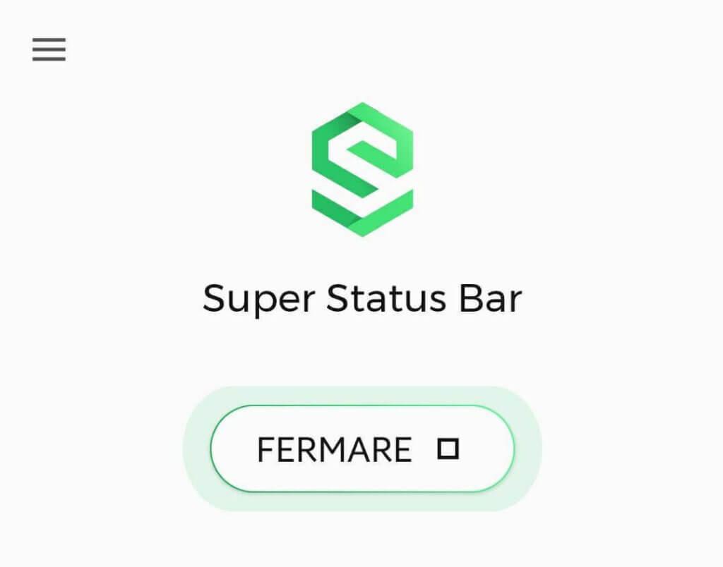 super status bar fermare
