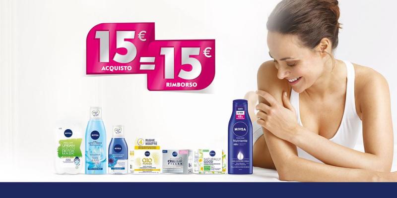 Nivea ti rimborsa 15€ di spesa [Più vicini a te e alla tua pelle]